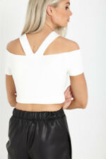Cotton Clubwear Crop Tops & Blouses for Women