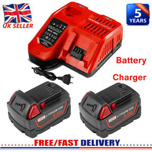 For Milwaukee M18 Lithium XC 5.5AH Extended Capacity Battery/Charger 48-11-1852