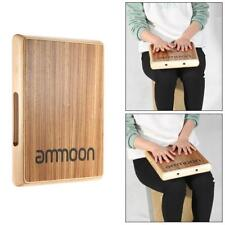 ammoon Compact Travel Cajon Flat Hand Drum High Quality Zebra Wood New K3Z5
