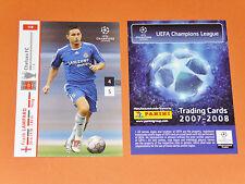 FRANK LAMPARD CHELSEA BLUES FOOTBALL CARDS PANINI CHAMPIONS LEAGUE 2007-2008