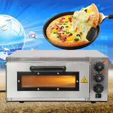 """16"""" Commercial kitchen Single Deck Electric Pizza Oven Stone Bake Base For Party"""
