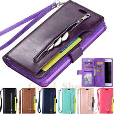 For iPhone 11 12 Pro Max XR 6s 7 8 SE Flip Wallet Card Holder Leather Case Cover