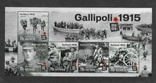 Australia-Gallipoli 1915--World War I-Min sheet 2015-mnh-military