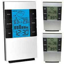 Electronic Digital Weather Thermometer Alarm Clock Home Bedroom With Backlight