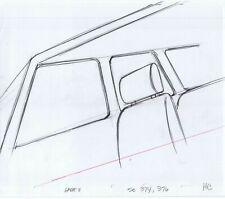Simpsons Car Interior Original Art Animation Production Pencils GABF11 SC-374