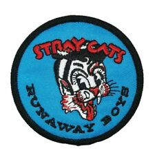 """Stray Cats """"Runaway Boys"""" Embroidered Patch -new"""