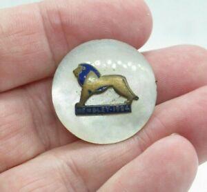 Rare Antique 1924 British Empire Exhibition Wembley Lion Mother of Pearl Badge