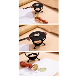 DIY Mini Fire Lacquer Wax Melting Wax Tripod Stove with Spoon Tools Kits 8C