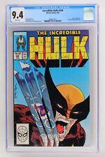 Incredible Hulk #340 - Marvel 1988 CGC 9.4 Hulk vs. Wolverine. X-Men & Leader ap
