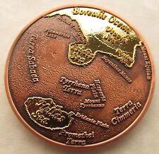 Oceans of Mars Geocoin - Oceans Blazing Edition - 24 Karat Gold and Copper