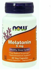 MELATONINA 5 mg X 60 VEG CAPSULES - NOW FOODS