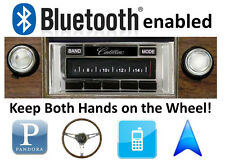 Bluetooth Enabled '69-70 Cadillac 300 watt AM FM Stereo Radio USB, iPod inputs
