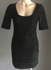 NWOT Black T by BETTINA LIANO Cut Out Back Short Sleeve Mini Dress Size 10