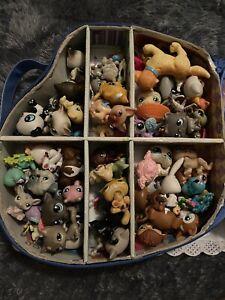 Littlest Pet Shop Huge Lot Of 50+ Pets Dogs Cats Monkeys Pigs Bear & Case