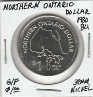 (V)  Token - Ontario, Canada - G/F $1 - 1980 BU - 32 MM Nickel