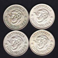 Australia QE2 Shilling Group - 1956 1957 1958 1959 TEX96