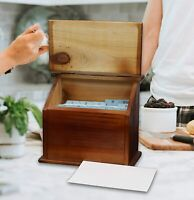 💥VINTIQUEWISE OLD STYLE WOOD PODIUM RECIPE/TRINKET BOX💥CHEAPEST ON THE WEB💥