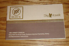 Original 1982 Buick Skyhawk Owners Operators Manual 82