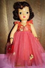 "Vintage 16"" Brunette Terri Lee in Gorgeous Red Ballgown"