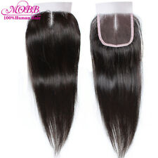 8inch100% Hand Tied Lace Closure Indian Virgin Human Hair Extension Straight 7A