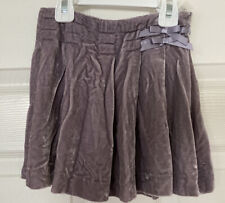 JANIE & JACK Lavender Lilac VELVET SKIRT 👗Fall Winter Girl 6