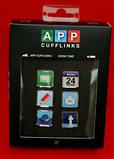 "BRAND NEW ""APP"" CUFFLINKS : THREE SETS!   BOXED & PERFECT!!"