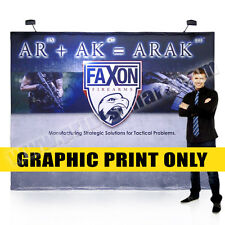 10ft' Tension Fabric Pop Up Display Replacement Graphic Printing Free Shipping
