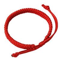 2Pcs Couple Red Rope Tibetan Buddhist Handmade Lucky Knots Bangle Bracelet Gift