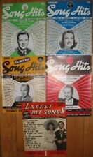 Group of 5 Lyric Magazines - 4 Song Hits; 1 Latest Hit Songs all1940's