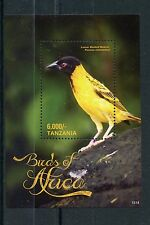 Tanzania 2015 MNH Birds of Africa 1v S/S II Lesser Masked Weaver Stamps