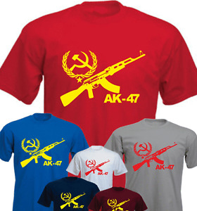 AK 47 CCCP Machine Gun Brand New T-shirt Present Gift
