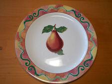 """Epoch SOMERVILLE E107 Set of 7 Dinner Plates 10 7/8"""" Pears Fruit"""