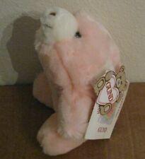 "Snuffles pink small bear Gund plush lovie stuffed animal 1980 6"" NEW"