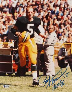 Paul Hornung Signed Green Bay Packers 11x14 Photo Inscribed (Beckett COA0) NFL