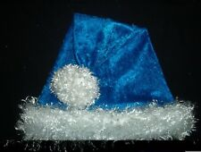 "24"" COLTS BLUE Santa Hat with WHITE faux fur trim & ball INDIANAPOLIS Kentucky"