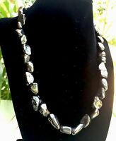 Elite Shungite Necklace Nugget Noble Tumbled Chain Karelia EMF Protection Stone.