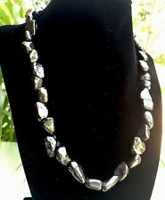Elite Shungite Necklace Noble Tumbled Shungite Nugget Necklace Chain Karelia.