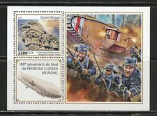 GUINEA BISSAU  2018 100th ANNIVERSARY OFTHE END OF WW I SOUVENIR SHEET MINT NH