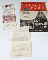 Vintage Lot of 2 60s Travel Brochures & Paper Hershey Pa Park Chocolate Town USA