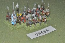 25mm medieval / english - heavy 20 figures - inf (29636)