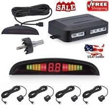 Full Set Car Reverse Parking Sensor LED Reverse Backup Radar Alarm System Kit US