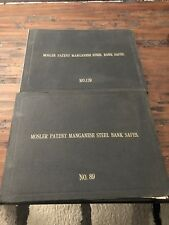 2 Antique Very Rare Mosler Patent Manganese Bank Safe Books No.139 And No.89