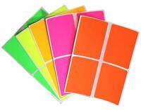 Rectangular Stickers for Color Coding 3 x 2 Inch Organizing Art Labels 40 Pack