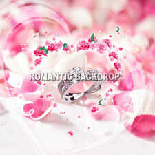 8X8 COMPUTER  PRINTED Valentines Day BACKDROP/BACKGROUND by KING OF BACKDROPS