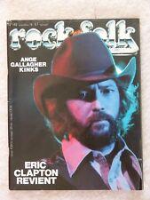 ROCK & FOLK N°142 1978 - ERIC CLAPTON, ANGE, GALLAGHER, KINKS + POSTER