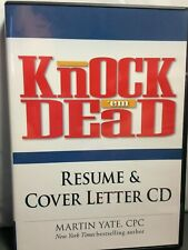 "Knock ""em Dead - Resume & Cover Letter, Cd for Pc, (Must Have Microsoft Word)"
