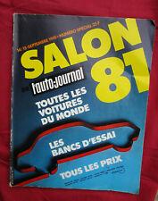 L'AUTO-JOURNAL  N° SPECIAL SALON  septembre 1981