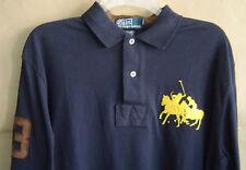 NWT $145 POLO RALPH LAUREN Mens L DUAL MATCH Navy L/S CLASSIC FIT Cotton Shirt