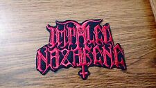 IMPALED NAZARENE,IRON ON RED EMBROIDERED PATCH