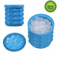 Large Ice Cube Maker Genie Silicone Wine Ice Bucket Big Ice Cube Tray Mold Cup